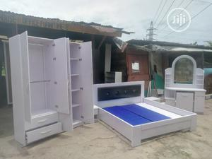 Set of Room Bed Frame Wardrobe Dresing Mirror | Furniture for sale in Lagos State, Lekki
