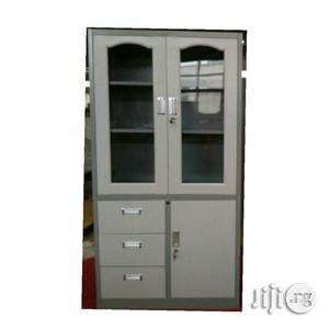 Metal Glass Cabinet With 3 Drawers | Furniture for sale in Lagos State, Ojo