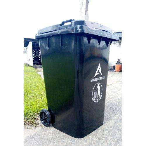 Industrial Waste Bin, Black 240L