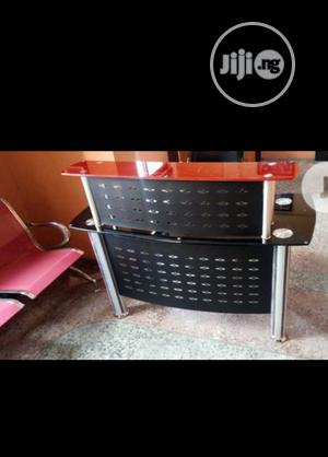 Brand New Imported 4feet Glass and Metal Receptionist Table. | Furniture for sale in Lagos State, Yaba