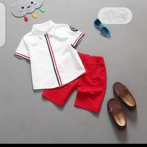 Boys 2pcs Short and Shirt Set | Children's Clothing for sale in Lagos State, Surulere