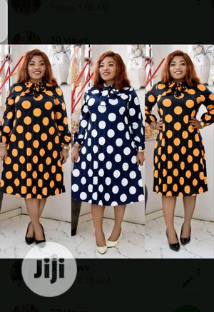 Polka Dot Turtle Neck Maternity Dress   Clothing for sale in Lagos State, Ikeja