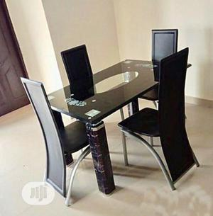 Quality Glass Dining Table by 4 | Furniture for sale in Lagos State, Oshodi