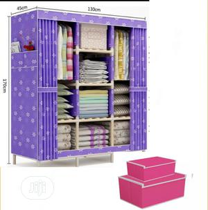 3column Mobile Wooden Wadrobe 130cmby45cm By170cn | Furniture for sale in Lagos State, Oshodi
