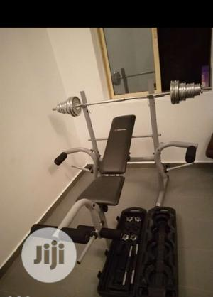 Standard Weight Bench With 50kg Dumbbells Set   Sports Equipment for sale in Lagos State, Ifako-Ijaiye