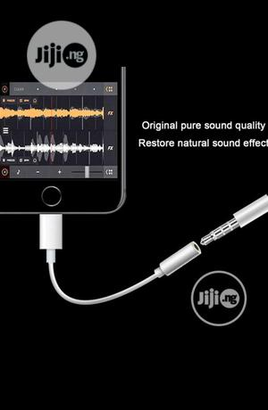 Apple Lightning To 3.5mm Audio Interface Jack Adapter | Accessories & Supplies for Electronics for sale in Lagos State, Ikeja