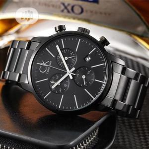 Calvin Klein Chronograph Black Chain Watch   Watches for sale in Lagos State, Lagos Island (Eko)