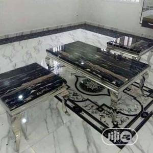 Affordable Marble Center Table With Side Stools   Furniture for sale in Lagos State, Amuwo-Odofin