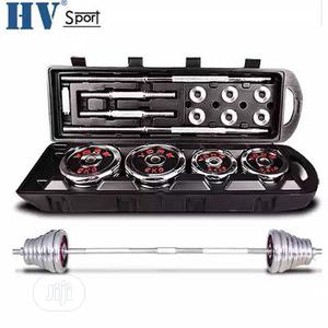50kg Dumbbell Barbell Set With Carrier Case   Sports Equipment for sale in Lagos State, Surulere