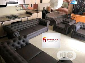 A Set Of Chair 1 Three Sitter 1 Two Sitter And 2 Single | Furniture for sale in Edo State, Benin City