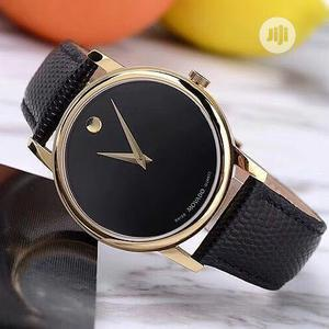 Movado Flat Rose Gold Leather Strap Watch   Watches for sale in Lagos State, Lagos Island (Eko)