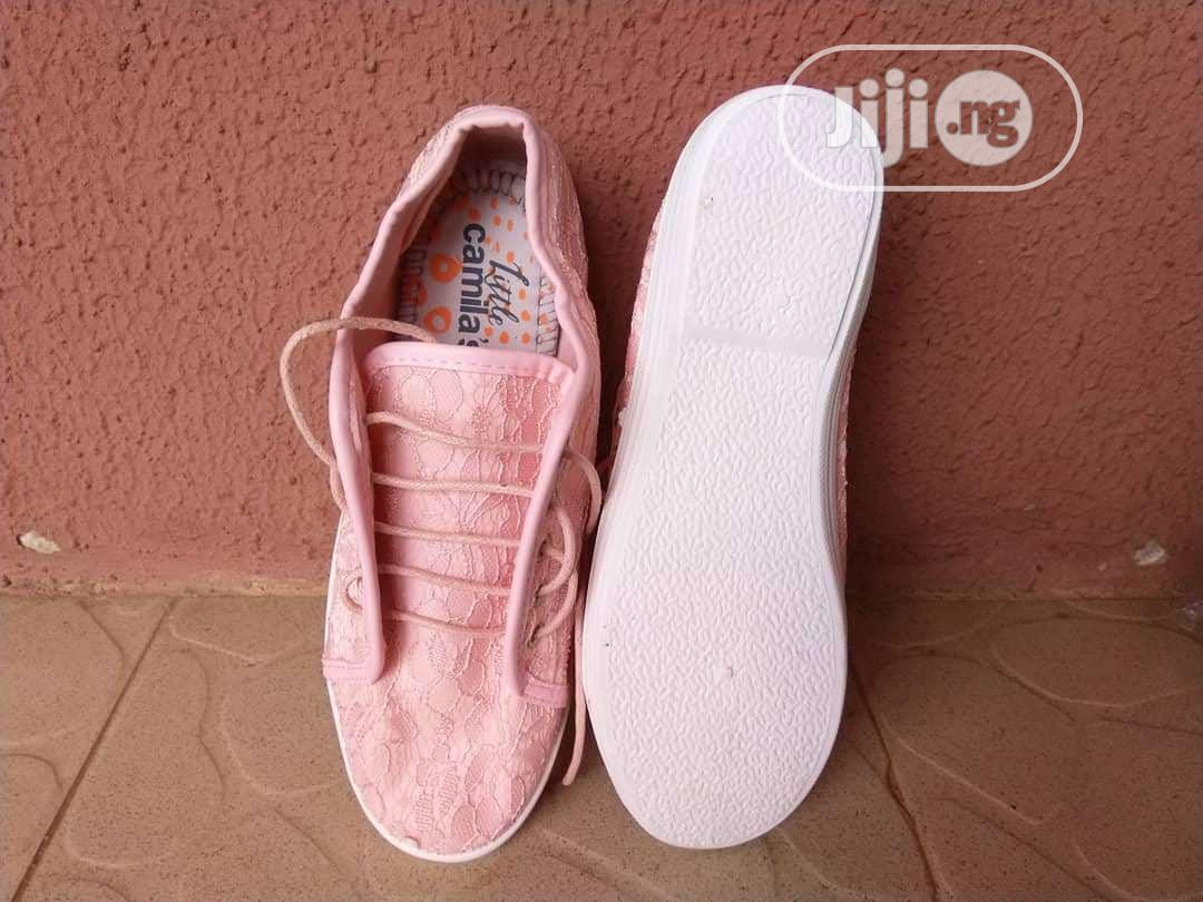 Girls Lace-Up Pink Sneakers (Teen) | Children's Shoes for sale in Ajah, Lagos State, Nigeria