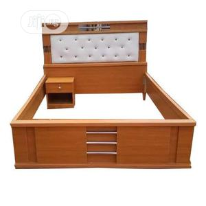 6×6 Bed Frame With Bed Side   Furniture for sale in Lagos State, Ifako-Ijaiye