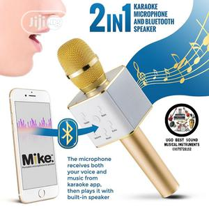 Rechargeable Karaoke Microphone And Bluetooth Speaker   Audio & Music Equipment for sale in Lagos State, Mushin