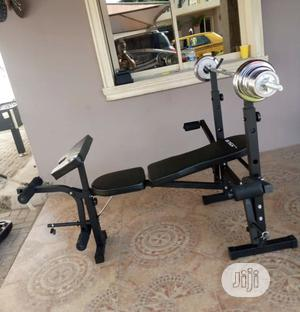 Weight Bench With 50kg Barbell | Sports Equipment for sale in Abuja (FCT) State, Maitama