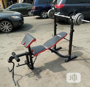 New Weight Bench With 50kg Barbell | Sports Equipment for sale in Lagos State, Ikotun/Igando