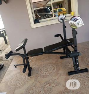 New Weight Bench With 50kg Barbell | Sports Equipment for sale in Anambra State, Awka