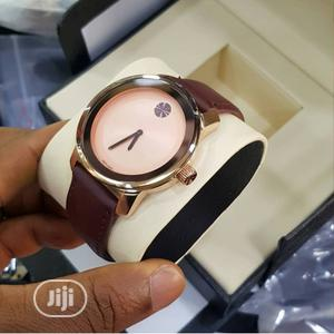Movado Rose Gold Leather Strap Watch for Unisex | Watches for sale in Lagos State, Lagos Island (Eko)