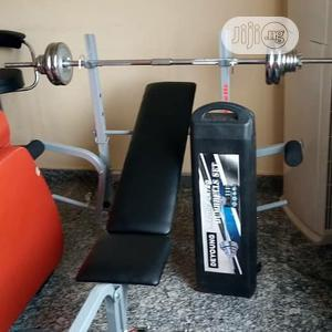 Brand New Multi Purpose Weight Lifting Bench Press With 50kg Dumbbells | Sports Equipment for sale in Bayelsa State, Yenagoa