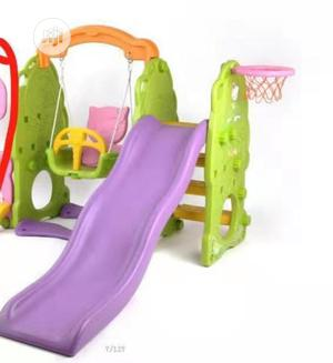 3 in Children Slide With Swing and Basketball. | Toys for sale in Rivers State, Port-Harcourt