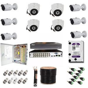 Dahua 6 1080P HD HDCVI Bullet Camera + 4 DOME COMPLETE Kit | Security & Surveillance for sale in Lagos State, Ikeja