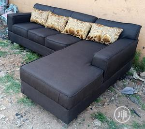 L-Shaped Sofa Chair With Throw Pillows | Furniture for sale in Lagos State, Ajah