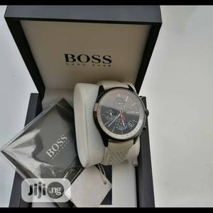 Boss Chronograph Leather Strap Watch | Watches for sale in Lagos State, Lagos Island (Eko)