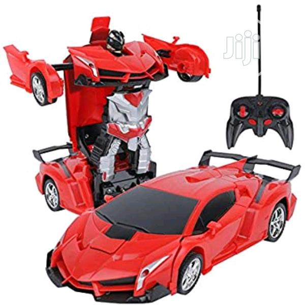 Remote Control Car Transforming Robot Car Toy