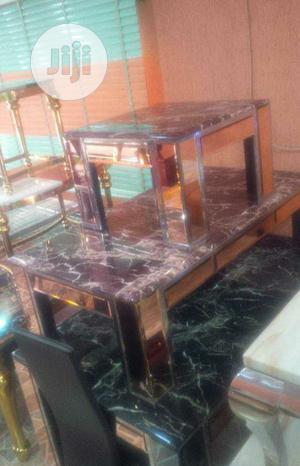 Marble Center Table With Side Stools   Furniture for sale in Lagos State, Victoria Island