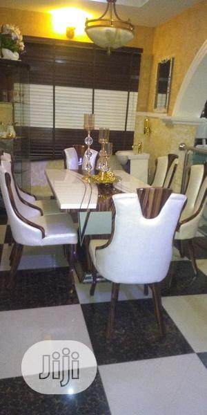 Italian Marble Dinning Tables With 6 Chairs | Furniture for sale in Lagos State, Oshodi