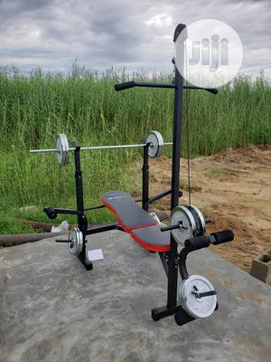 Brand New Multi Purpose Bench Press With Lat Tower | Sports Equipment for sale in Lagos State, Surulere