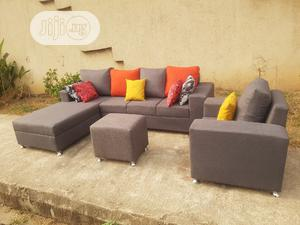 5 Seaters L Shape With Single Center Puff   Furniture for sale in Lagos State, Magodo