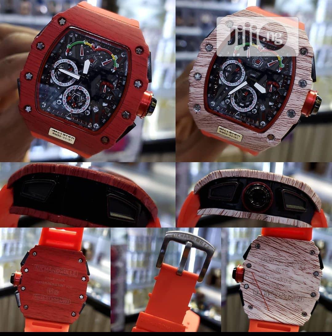 Richard Mille Men's Red Rubber Wristwatch