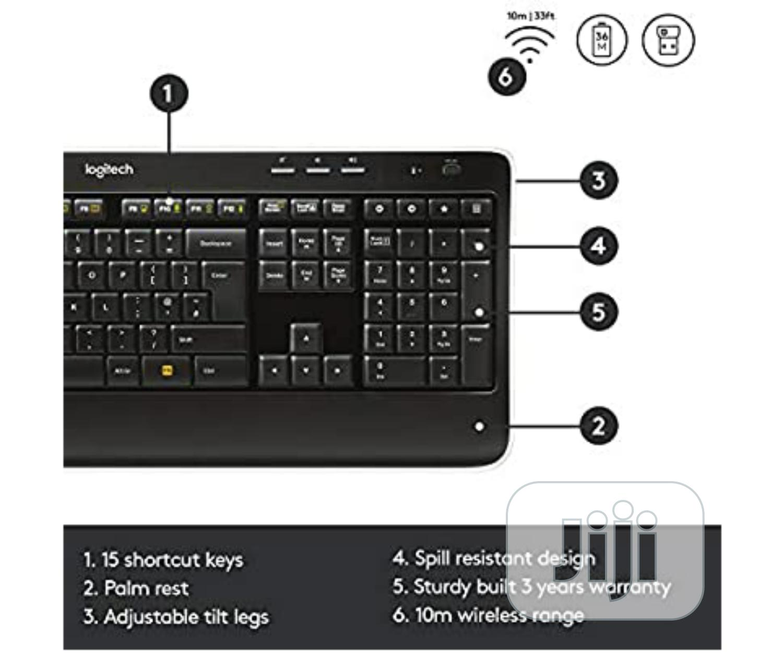 Logitech MK520 Wireless Keyboard And Mouse Combo — Keyboard And Mouse   Computer Accessories  for sale in Ikeja, Lagos State, Nigeria