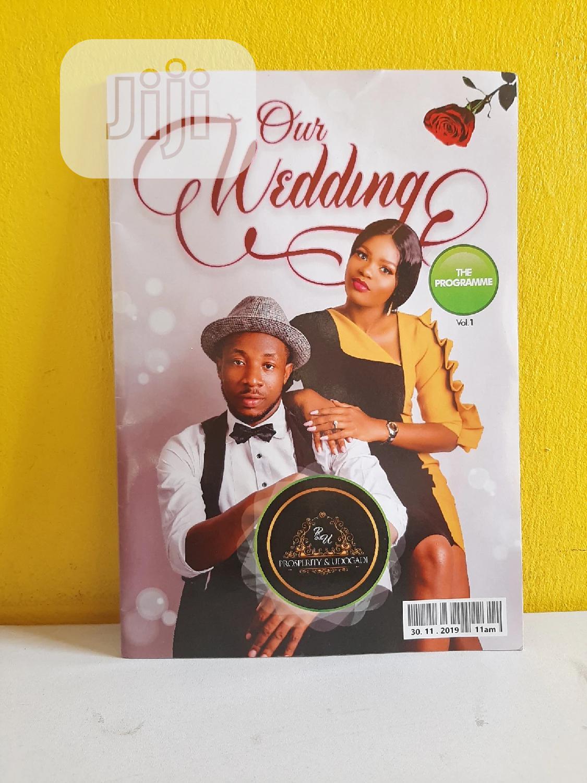 Wedding Programmes In Port Harcourt Printing Services Ifunanya Odinka Jiji Ng