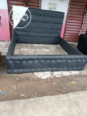 Leather Bed Freme 6 By 6 | Furniture for sale in Lagos State, Ikeja