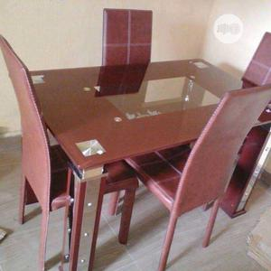 Good Quality Dining Table By 4 Glass | Furniture for sale in Lagos State, Lekki
