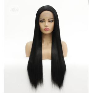 Natural Hairline Glueless Straight Human Hair Wig With Closure   Hair Beauty for sale in Lagos State, Ikeja