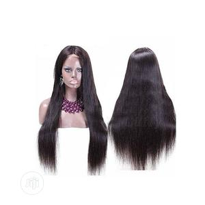 Straight Human Hair Wig With Closure   Hair Beauty for sale in Lagos State, Ikoyi