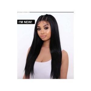 """20"""" Straight Middle Part Hair Wig With Lace Closure 