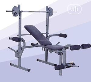 Weight Lifting Bench + 50kg Case Chrome Dumbbell   Sports Equipment for sale in Lagos State, Ikotun/Igando