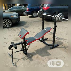 Bench Press With 50kg Barbell | Sports Equipment for sale in Lagos State, Lekki
