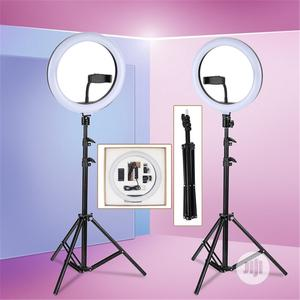 Ring Selfie Fill-In Lighting Studio Ring Light With Tripod | Stage Lighting & Effects for sale in Lagos State, Surulere