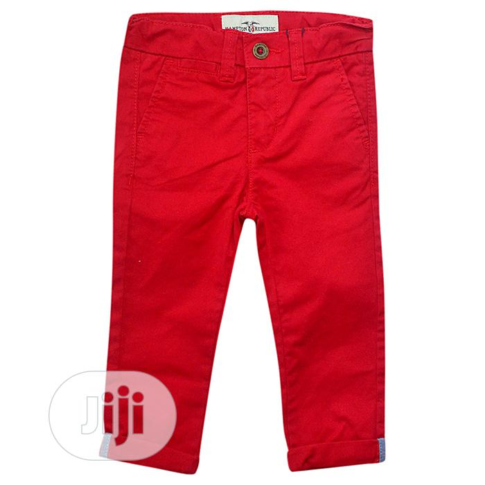 Quality Red Trouser   Children's Clothing for sale in Ajah, Lagos State, Nigeria