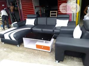 L-Shaped Sofa With Throw Pillows | Furniture for sale in Lagos State, Ikeja