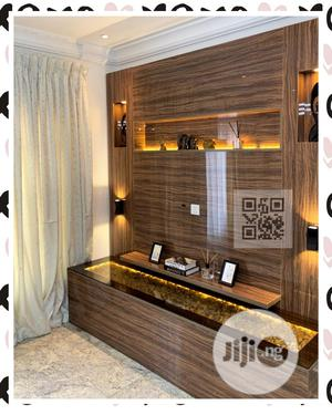 Luxury Contemporary__ TV Stand High Gloss With Lights | Furniture for sale in Lagos State, Lekki