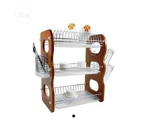 3 Layers Wooden Plate Rack   Kitchen & Dining for sale in Lagos State, Lagos Island (Eko)