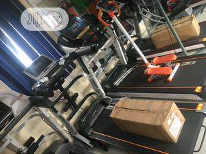 3hp American Premium Treadmill With Mp3, Dumbbell & Massager   Sports Equipment for sale in Lagos State, Ikeja
