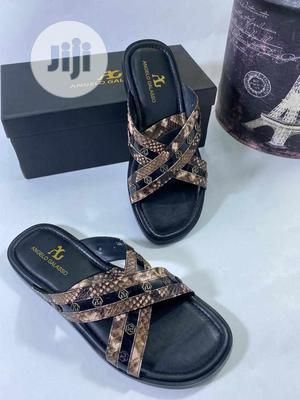 Angelo Galasso Designer Leather Slippers for Men | Shoes for sale in Lagos State, Magodo