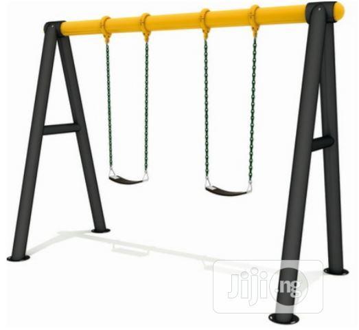 Playground Equipment 2 Seater Swing Set.